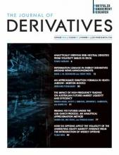 The Journal of Derivatives Spring 2020