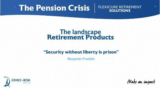 The Landscape: retirement products