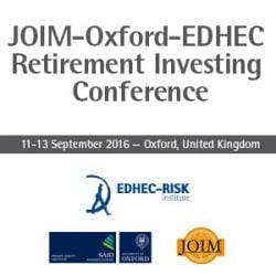JOIM Oford EDHEC Retirement Investing conference