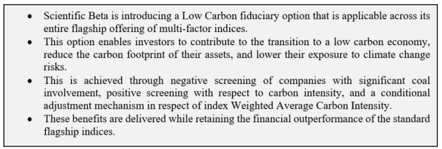 Scientific Beta Low Carbon Fiduciary Option
